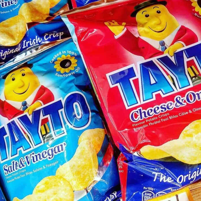 Only on the Island of Ireland would selling a bag of Tayto crisps land ya in court.